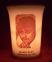 Mourninglight™custom printed glass memorial candle