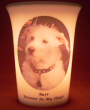 pet memorial candle for Bart