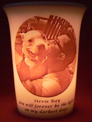 Mourninglight™ memorial candle photo