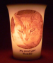 Wax lit Mourninglight™ memorial candle