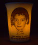 Amber LED battery light mourninglight memorial candle