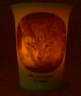 Flickering amber LED battery light Mourninglight™ memorial candle