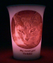 Pink LED battery light Mourninglight™ memorial candle
