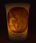 Amber LED battery light Mourninglight™ memorial candle